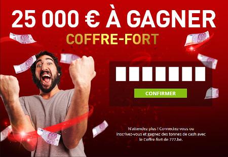 Trouvez le code du coffre-fort du casino777 et gagnez 25.000€
