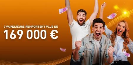 3 joueurs gagnent plus de 169.972 € sur le casino 777.be