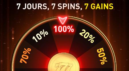 7 jours, 7 spins, 7 gains: Boostez vos pièces Premium sur le casino777