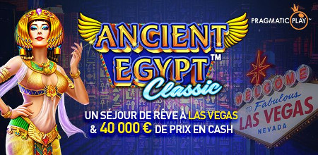 Un séjour pour deux à Las Vegas et 40.000 € à gagner lors du tournoi Ancien Egypte Classic