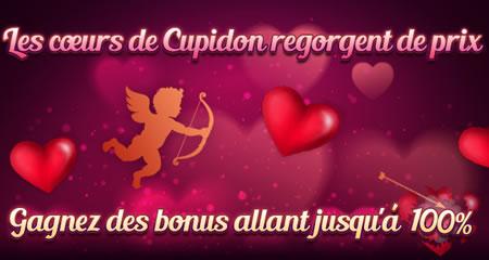 100 % de bonus pour la Saint Valentin sur Casino777