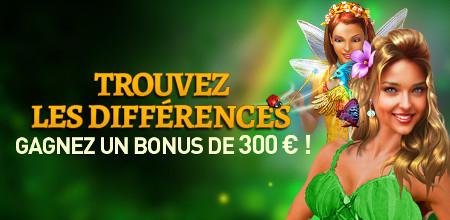 300  € de bonus avec le jeux des différences au Casino777