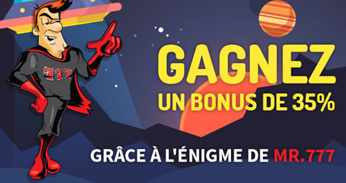 35 % de bonus sur casino777.be avec le code SUPERMAN