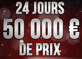 50 000 euros de prix vous attendent derrière le calendrier de l'avent de casino777.be