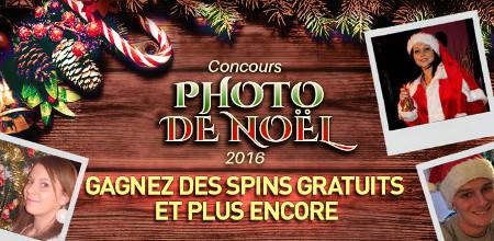 Des spins gratuits en participant au concours de photo de Noël du Casino777