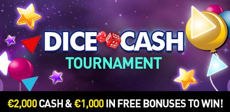 3.000 euros de cash et de bonus à gagner lors du tournoi de dice