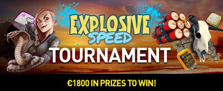 1.800 euros à gagner avec le tournoi Explosive Speed