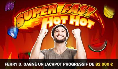 Jerry D. gagne 82.000 euros au jackpot progressif de Casino777