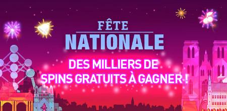 Des spins gratuits lors du tournoi de la Fête Nationale au Casino777