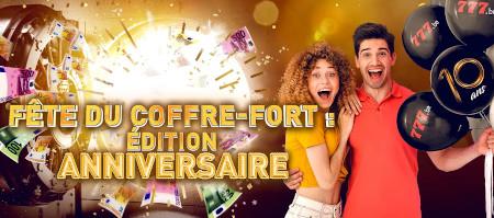 10 ans du coffre-fort: Une pluie de tokens vous  attend sur le casino777