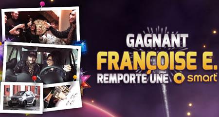 Françoise E. remporte le Méga Tournoi du casino777 et une smart