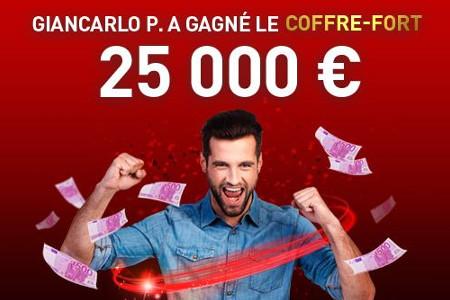 Giancarlo P. déverrouille le coffre-fort du casino777 et gagne 25.000 euros