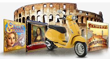 Un scooter Vespa et un voyage à Rome à gagner sur casino777.be
