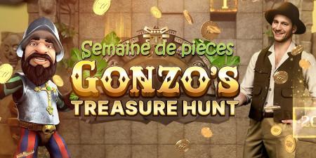 Semaine de pièces Gonzo's Treasure Hunt: Jusqu'à  200 % plus de pièces sur le casino777