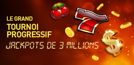 Grand Tournoi Progressif du casino777 : 3 millions