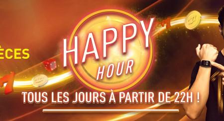 Happy Hour: 100 % de pièces en plus tous les  jours sur le casino777
