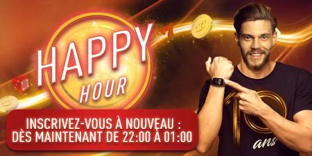 Happy Hour Round2: 200 % plus de pièces  sur le casino777
