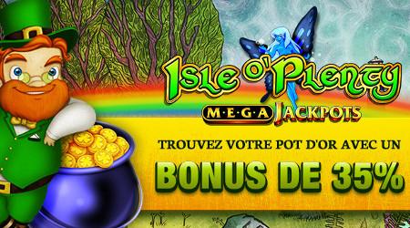 Un bonus de 250 € lors du quizz irlandais sur Casino777 et jackpot de presque 900.000 €