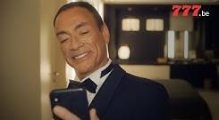 Jean-Claude Van Damme joue sur 777.be (Pub)