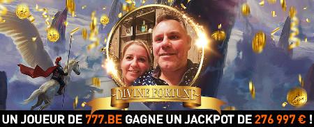 276.997,29 € de jackpot au Casino777.be pour Carine