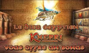 25% de bonus grâce au dieu Khepri et sa machine à sous au casino 777