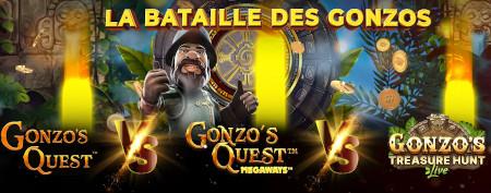 Bataille des Gonzos: Un million de pièces à  gagner sur le casino777