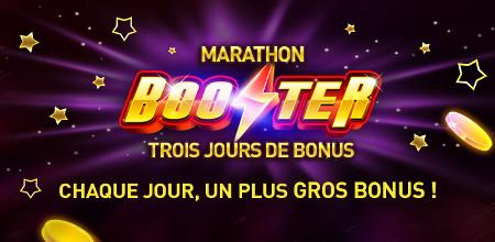 Marathon Booster : Trois jours de bonus sur le casino777