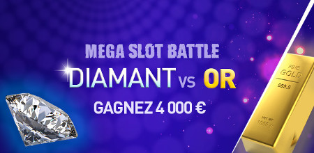 4.000 € à gagner à la Mega Slot Battle : Diamant vs Or
