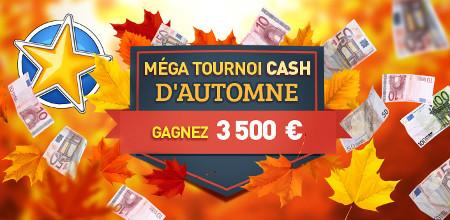 3.500 euros et des parties gratuites à gagner avec le tournoi d'automne