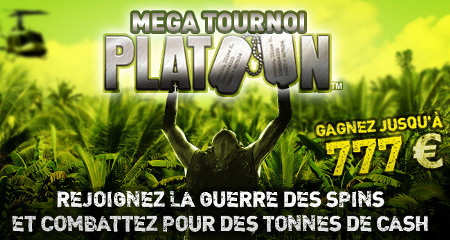 Participez au Mega tournoi Platoon sur le casino777