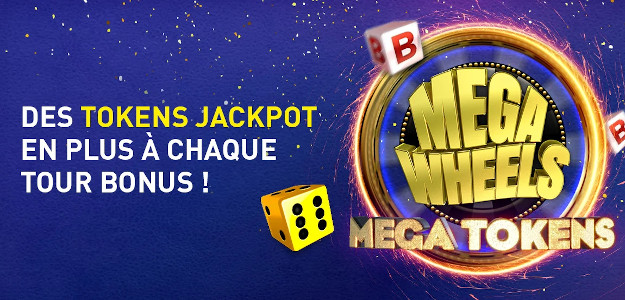 Mega Wheels : Mega Tokens - Jusqu'à 30 tokens à gagner sur Mega Wheels du casino777