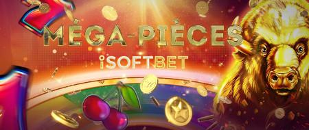 Méga-pièces iSoftBet: Jusqu'à 200 % plus de  pièces sur le casino777