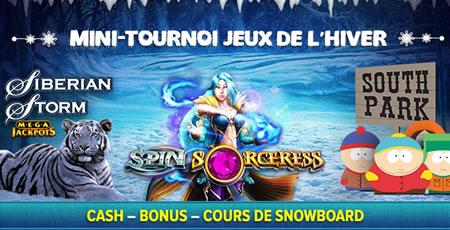 Mini tournoi de l'Hiver avec Siberian Storm, South Park et Spin Sorceress