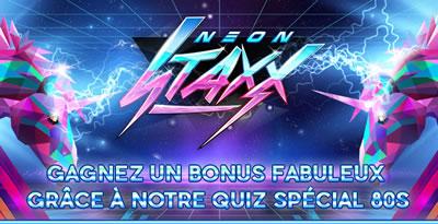 Un bonus de 35% vous attend sur casino777.be avec Neon Staxx