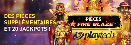 Pièces Fire Blaze Playtech au casino777