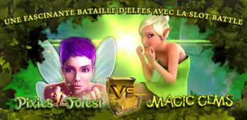 Magic Gems Vs Pixies of the Forest : La Slot Battle du casino777