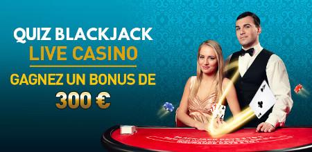 Quiz Blackjack Live Casino du Casino777 : 300 € de bonus