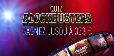 Gagnez 333 euros avec le quizz Blockbusters du casino777