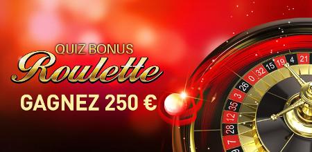 Quiz Bonus Roulette 250 euros avec Casino777