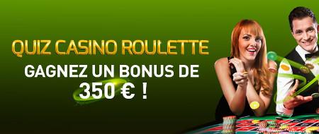 350 € de bonus mystère sur le casino777 avec le Quiz Roulette
