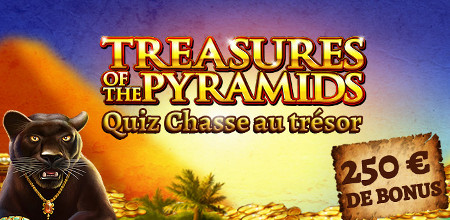 Treasures of the pyramids : 250 euros à gagner sur le casino777