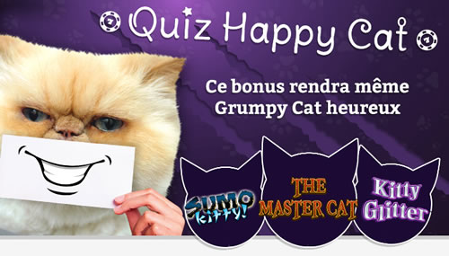 Quiz Happy Cat avec 35 % de bonus à la clé