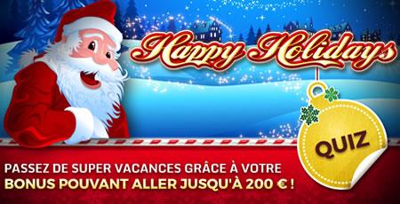 Gagnez un bonus de 200 € max. grâce à Happy Holidays sur casino777.be