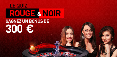 Quiz Rouge et Noir du Casino777 : 300 € de bonus à gagner