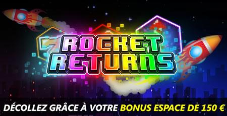 Rocket Returns : Bonus de 33% pouvant aller jusqu'à 150 € au casino777