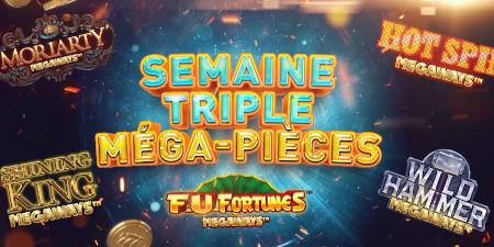 Semaine Triple Méga-Pièces: 1 million de pièces  en plus à gagner sur le casino777