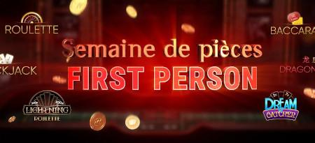 Semaine de pièces First Person: Jusqu'à 1  million de pièces à gagner sur le casino777