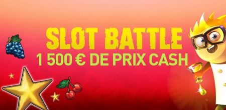 1.500 € à se partager lors de la Slot Battle