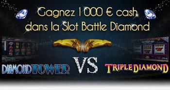Triple Diamond vs Diamond Tower : Slot Battle