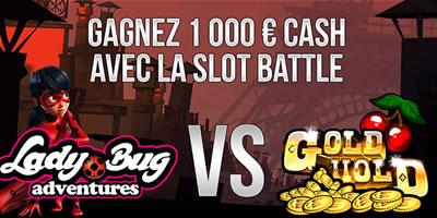 Slot Battle Lady Bug Adventures vs Gold Hold